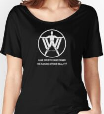 Westworld Host (White, Text 2) Women's Relaxed Fit T-Shirt