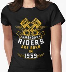 Legendary Riders Are Born In 1959 Women's Fitted T-Shirt