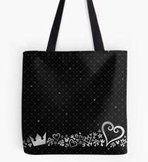 Kingdom Hearts - Schwarzes Muster Tote Bag
