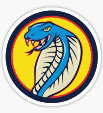 Cobra Viper Snake Head Attacking Circle Cartoon Sticker