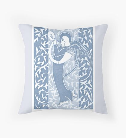 Blue Silver Angel 14th May 2015 Throw Pillow