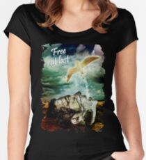 Free At Last (With Text) Women's Fitted Scoop T-Shirt