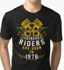 Camiseta de tejido mixto Los legendarios jinetes nacieron en 1976