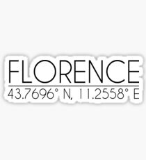 Florence Coordinates Sticker