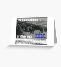 IBM & the Holocaust Greeting Card