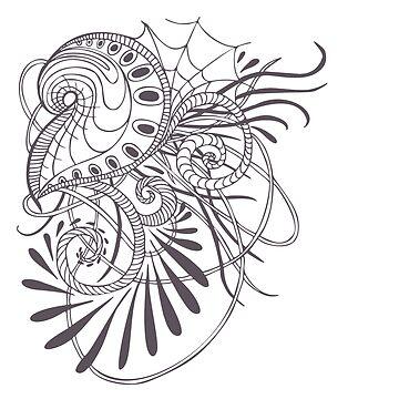 Hand-drawn abstraction by genevskayamariy