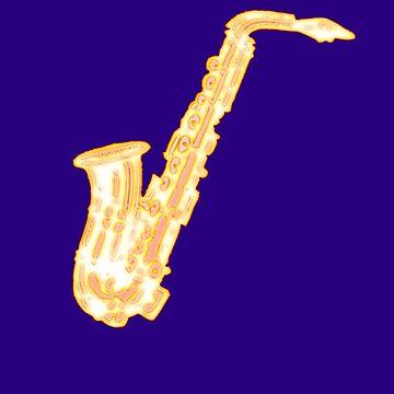 Jazz Music - Sax - Saxophone T-Shirt by stickersandtees