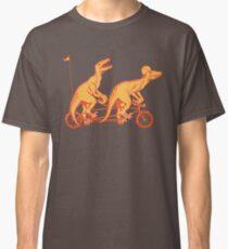 Cycling raptors on tandem bicycle Classic T-Shirt