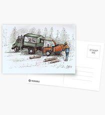 Arborist Tree Surgeon Lumberjack Logger chainsaw. Postcards