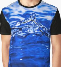 US Navy military Bundesherr texture look water vortex wave blue Graphic T-Shirt