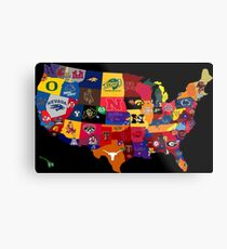 College Country Metal Print