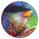 Crested Caracara Chalk Art Sticker by CassWArt