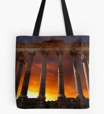 Temple of Saturn Ruins Tote Bag