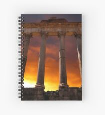 Temple of Saturn Ruins Spiral Notebook