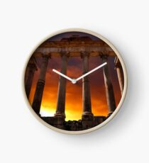 Temple of Saturn Ruins Clock