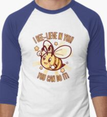 Beelieve in Yourself - Bee Pun Baseball ¾ Sleeve T-Shirt
