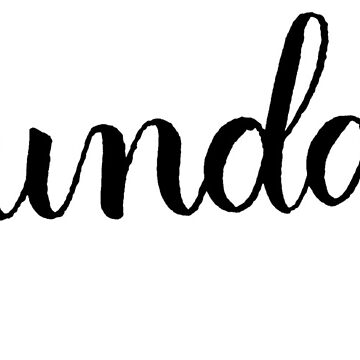 Sunday Calligraphy Label by the-bangs