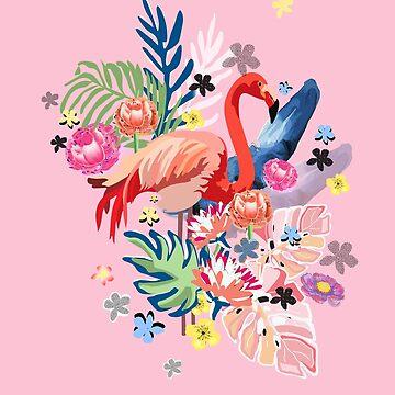 Flamingo Tropical Vibes by muktalata-barua