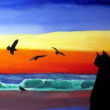 Cat at the Beach by CarloVaro