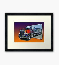 Out of Picture Peterbilt Dump Truck Framed Print
