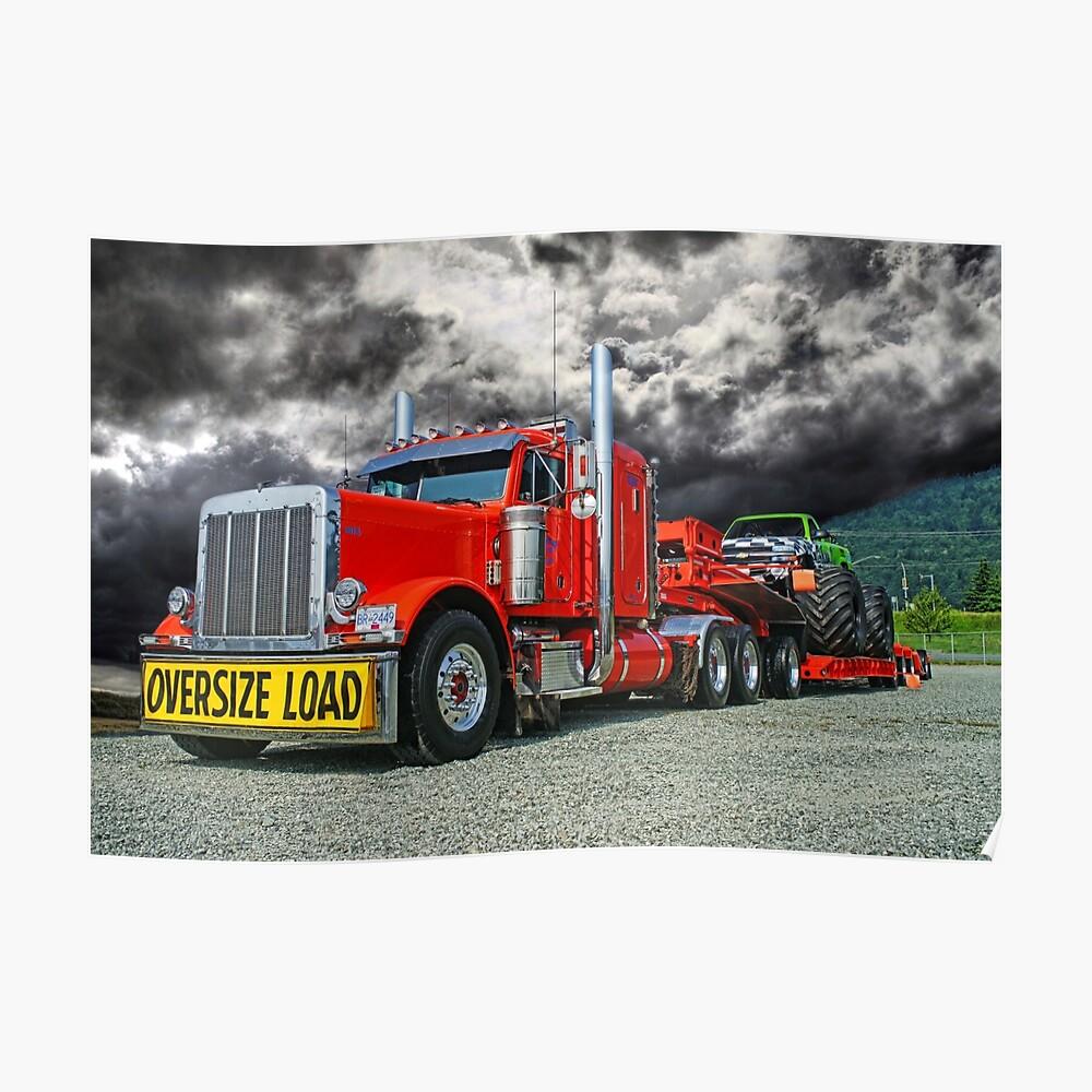 Monster Truck Hauler Poster