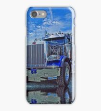Black & Blue Peterbilt Dumptruck iPhone Case/Skin