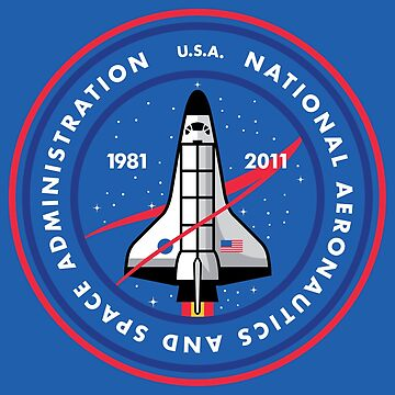 Space Shuttle Program NASA Inspired T-Shirt Sticker by Jamieferrato19
