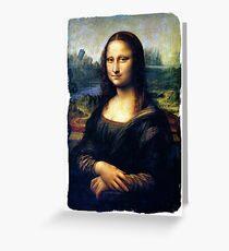 Mona Lisa Restored Greeting Card
