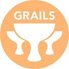 Grails Logo Orange Sticker by Pretty Good Conferences