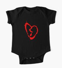 Red Heart Symbol One Piece - Short Sleeve