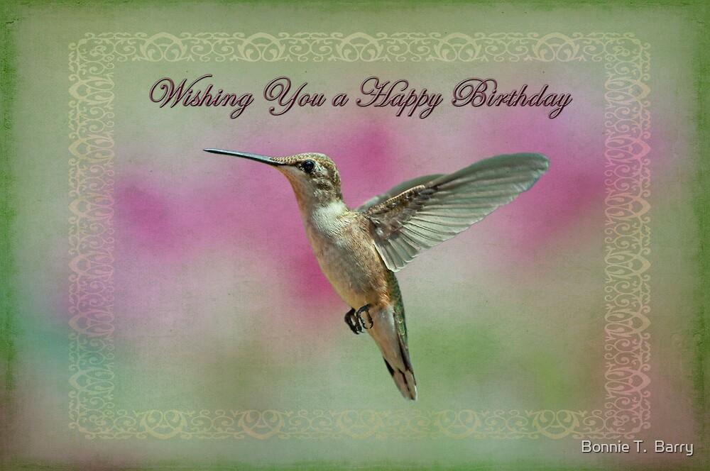 """Happy Birthday Hummingbird"" by Bonnie T. Barry | Redbubble"