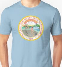 MINNESOTA STATE SEAL - POPULAR DISTRESSED STATE DESIGN WITH MINNESOTA STATE SEAL Unisex T-Shirt
