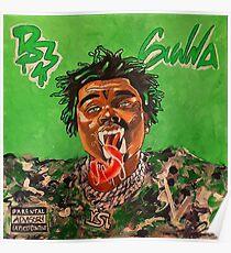 gunna,drip season 3,music,rap,rapper,album cover,painting,wall art,masculine,shirt,hiphop,ysl,album art, wall art,original art,cool,gangsta,fan art,illustration Poster