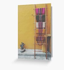 Colorful Woven Textiles in Mexico Greeting Card