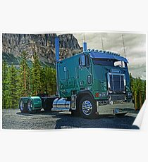 Kenworth Cabover in the Rockies Poster