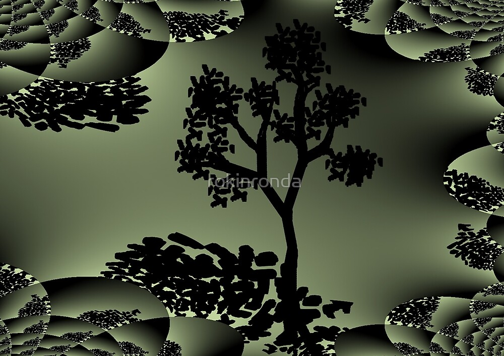 Treedom fractal art mixed with digital drawing by rokinronda