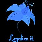 Legalize Poison Joke (text, black background)  by RiftwingDesigns