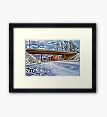 CP Rail Coal Train in the Snow Framed Print