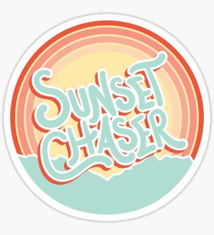 sunset chaser Sticker