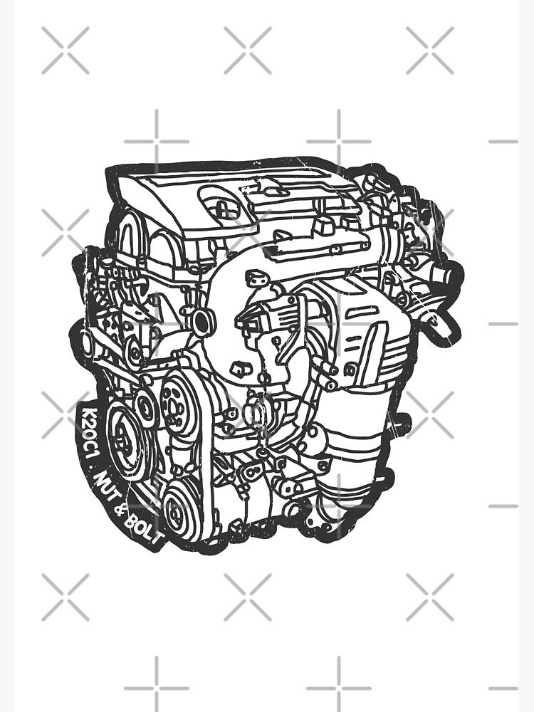 Honda Civic Type R FK2 K20C1 Engine | Poster