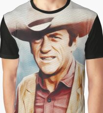 James Arness, Vintage Hollywood Legend Graphic T-Shirt