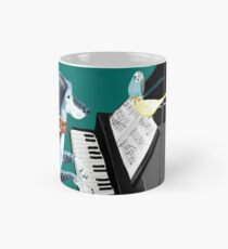 Piano lesson ( Doggy Art )  Taza