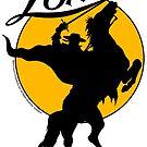 Zorro™ Horse & Rider Silhouette Dawn 001a by ZorroProdsInc