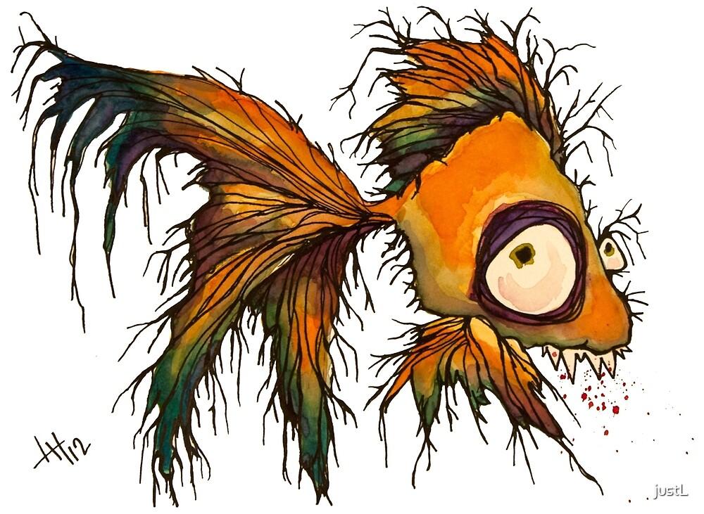 gold fingerrrrr the zombie fish by justL