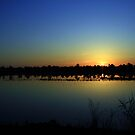 Sunrise Over Webb Lake by Virginia N. Fred