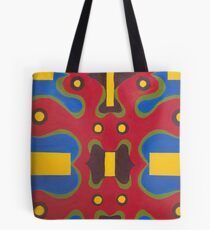 Red Doodle Tote Bag