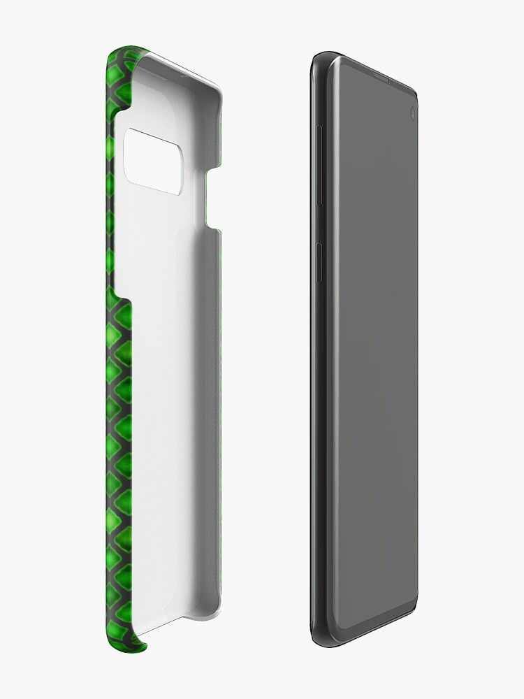 Alternate view of Green Tile  Case & Skin for Samsung Galaxy