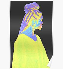 Jhene Colorful Fuzz Poster