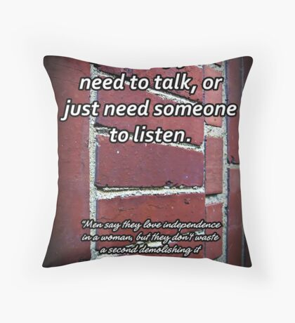 Sympathy for a Breakup Throw Pillow
