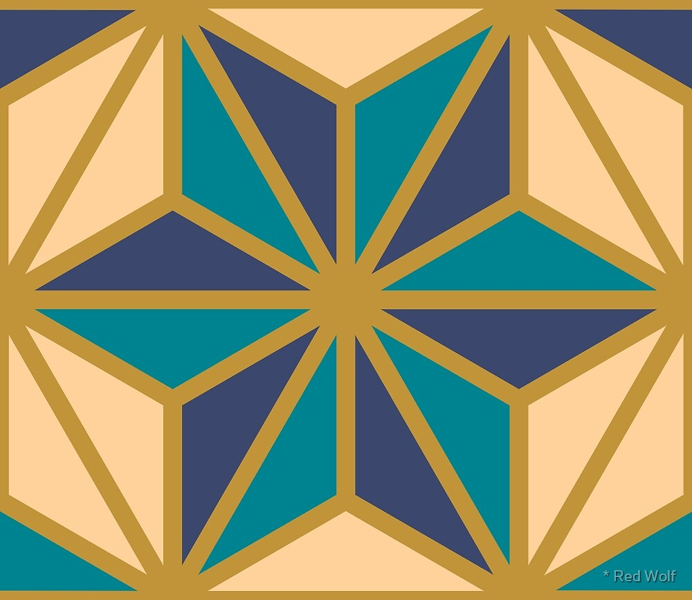 Geometric Pattern: Art Deco Star: Dream by * Red Wolf